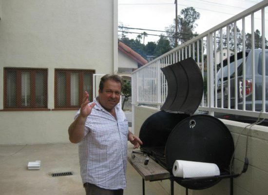 Pastor Pat on the grill