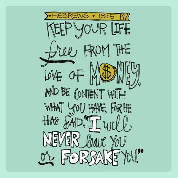 Bible Verse - Hebrews 13:5