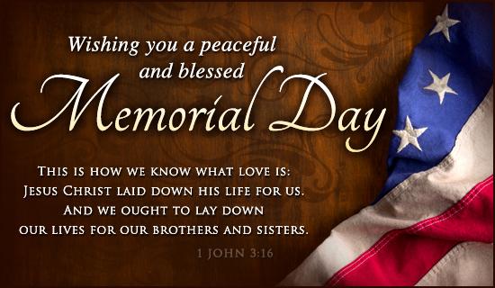 Memorial Day - I John 3:16