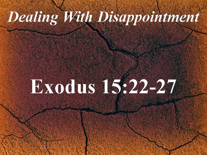 Exodus 15:22-27